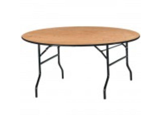 table ronde pliante plateau bois d 152 cm contact magequip sas. Black Bedroom Furniture Sets. Home Design Ideas