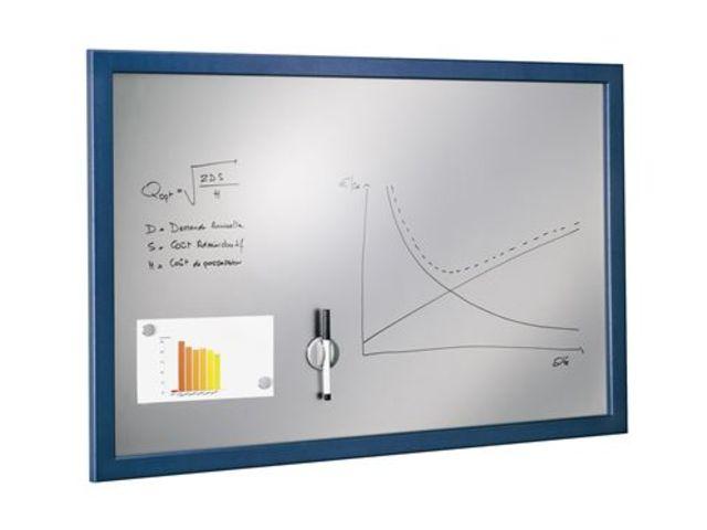 tableau magn tique fond argent 90 x 60 cm contact maxiburo. Black Bedroom Furniture Sets. Home Design Ideas