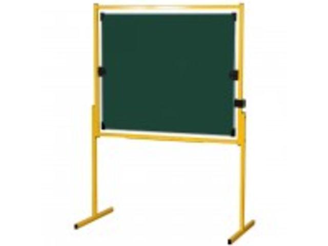 tableau pivotant uni blanc pied jaune 100 x 120 cm. Black Bedroom Furniture Sets. Home Design Ideas