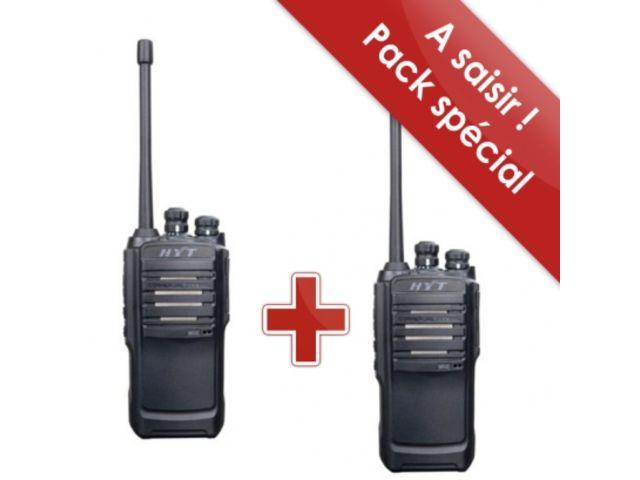 talkies walkies pro ip 54 longue port e pack de 2 hyt tc. Black Bedroom Furniture Sets. Home Design Ideas