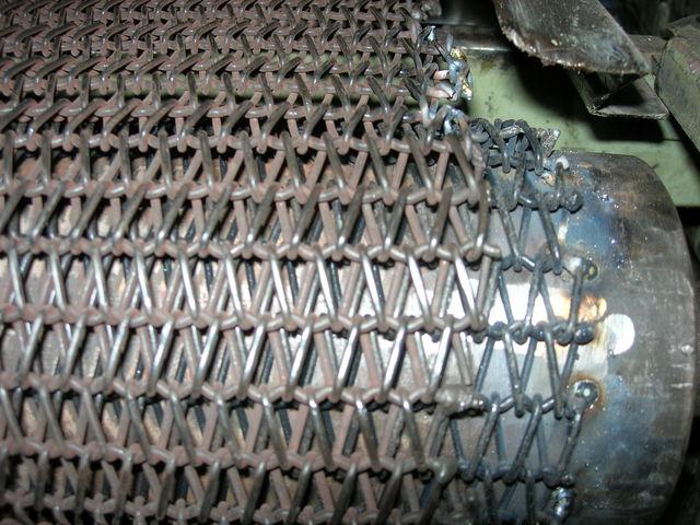 Tapis métal industriel