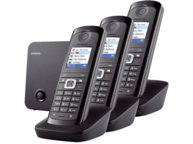 t l phone sans fil siemens gigaset e490 trio contact one direct. Black Bedroom Furniture Sets. Home Design Ideas