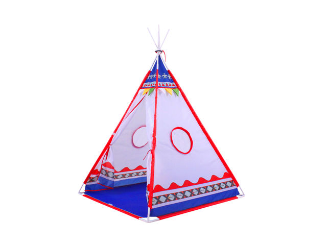 tente tipi d 39 indien pour enfants rouge et bleu contact. Black Bedroom Furniture Sets. Home Design Ideas