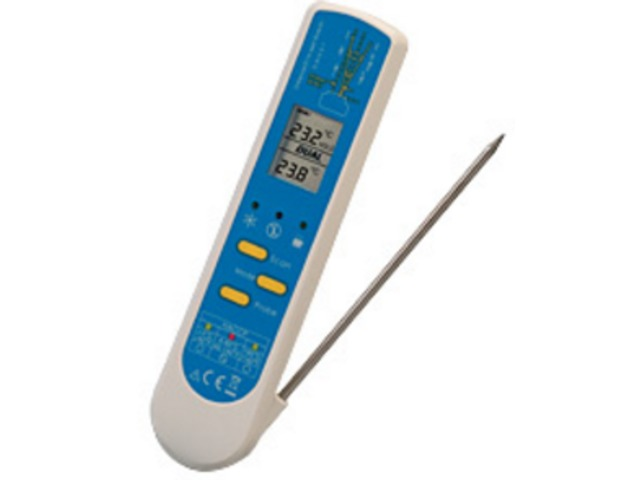 Thermom tre infrarouge alimentaire avec sonde de for Thermometre infrarouge cuisine