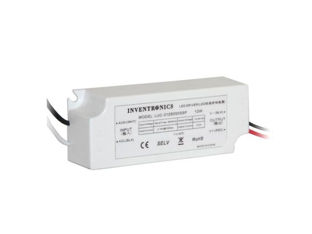 transformateur spot led driver inventronics 500ma 12w dim 1 10 contact clareo lighting. Black Bedroom Furniture Sets. Home Design Ideas