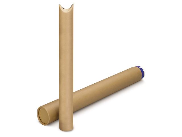 tube carton postal rond brun bout pinc contact raja. Black Bedroom Furniture Sets. Home Design Ideas