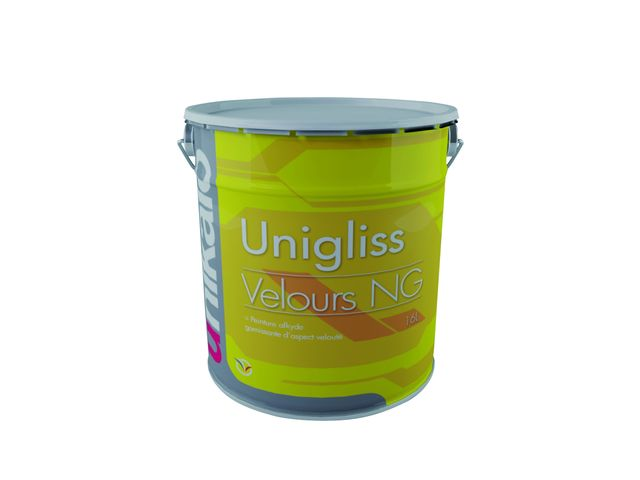 unigliss velours ng peinture d 39 aspect veloute a base de resine alkyde en phase solvant. Black Bedroom Furniture Sets. Home Design Ideas