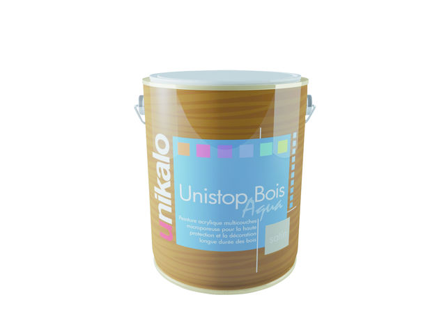 unistop bois aqua peinture multicouche a base de r sine alkyde satin e pour la protection et. Black Bedroom Furniture Sets. Home Design Ideas