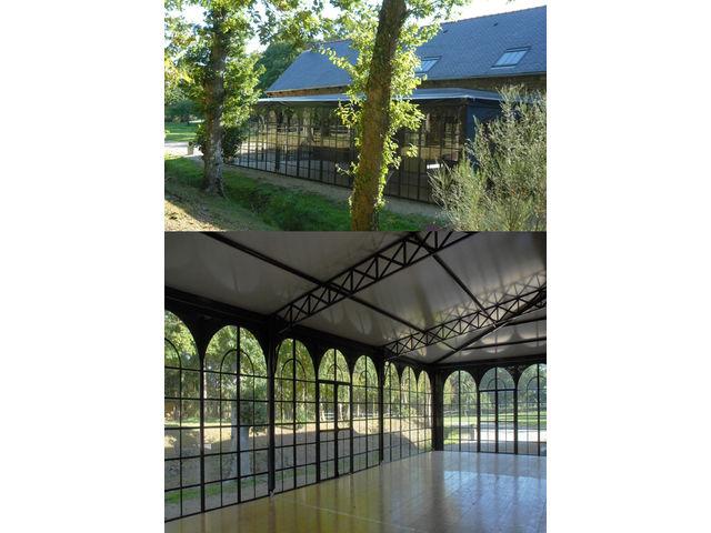 Vélum, veranda , couverture , verriere de terrasses pour les café ...