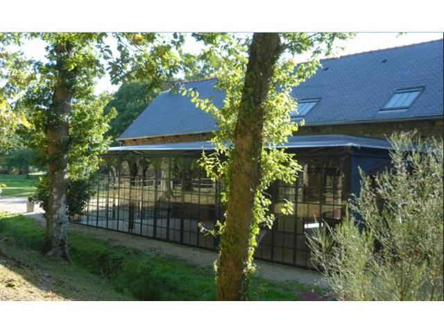 V u00e9lum, veranda , couverture , verriere de terrasses pour