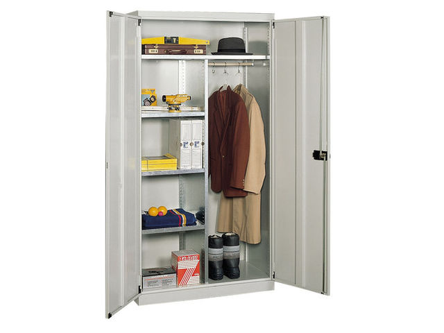 Vestiaire armoire m tallique grande largeur contact setam rayonnage et mobi - Armoire metallique vestiaire ...