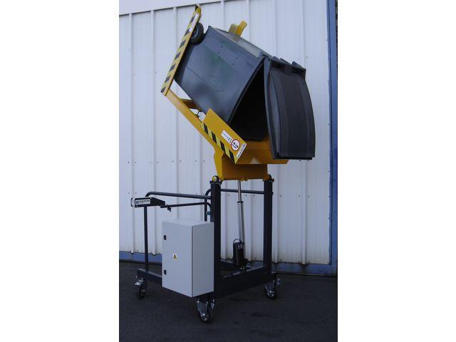 videur de poubelle 120 ou 240 litres vd135 contact manergo. Black Bedroom Furniture Sets. Home Design Ideas