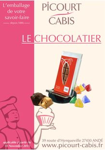 Catalogue emballage alimentaire chocolats