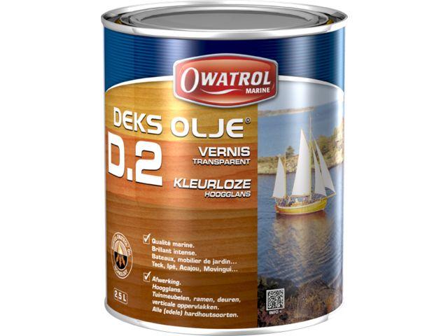 Vernis brillant pour bois intérieurs et extérieurs, qualité marine : DEKS  OLJE D2