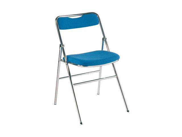 Chaise Pliante De Runion En Tissu Bleu