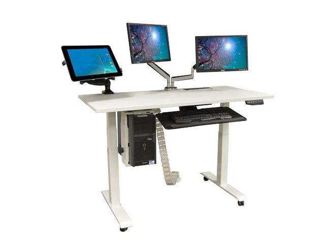 Table pliante bureau hêtre et anthracite contact setam