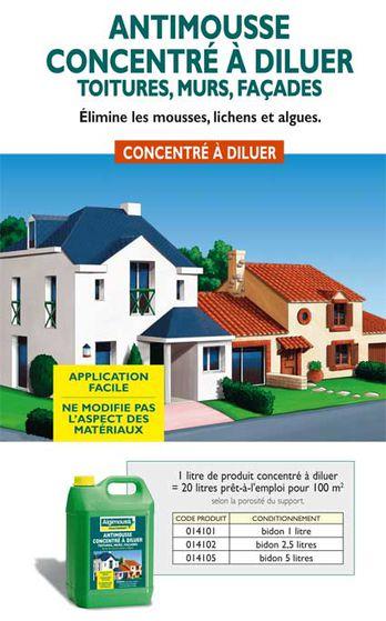 antimousse concentr diluer contact algimouss. Black Bedroom Furniture Sets. Home Design Ideas