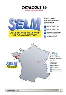 SELM - Catalogue 16 - Edition Sept 2014