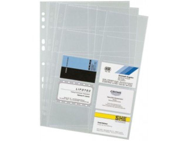 Cartes De Visite DURABLE Pour Ref 66209 Paquet 10 Pochettes