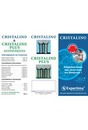 Documentation purificateur d'eau Cristalino / Cristalino Plus Antinitrates