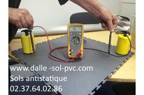 Dalles conductrices plombantes