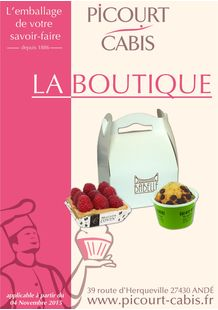 Catalogue boutique emballage alimentaire