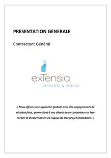Présentation EXTENSIA Design & Build