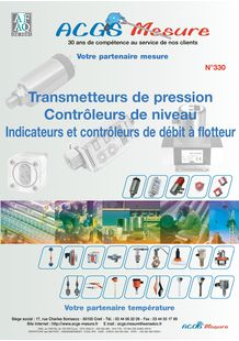 CATALOGUE PRESSION DEBIT NIVEAU ACGS