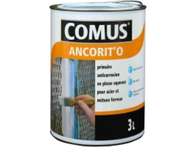 Primaire anticorrosion phase aqueuse supports ferreux COMUS® ANCORIT'O.