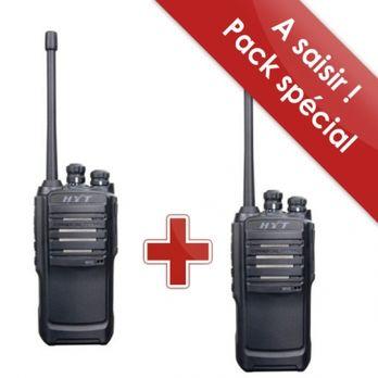 talkies walkies pro ip 54 longue port e pack de 2 hyt tc 446s pro contact officeeasy. Black Bedroom Furniture Sets. Home Design Ideas