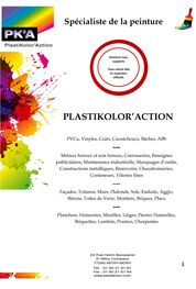 Catalogue Produits PLASTIKOLOR'ACTION