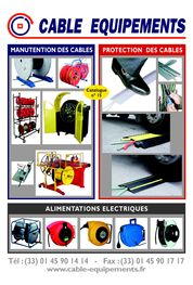 CABLE EQUIPEMENTS Catalogue n° 15