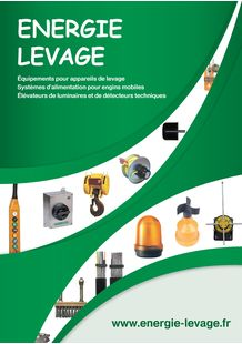 Catalogue gammes Energie Levage