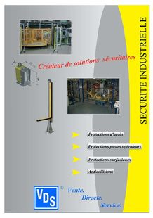 securite equipement de production vds