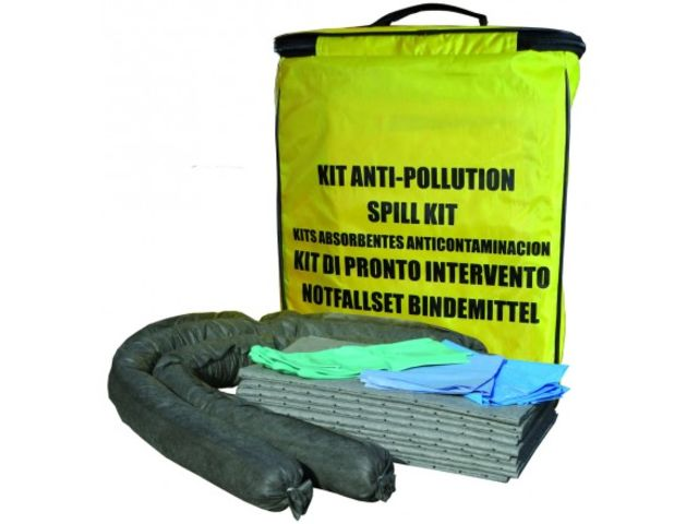 Kit anti-pollution absorbants 20 litres tous liquides
