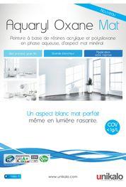 Tous les catalogues et brochures techniques peinture for Aquaryl mat