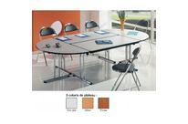 Table pliante 1/2l 140x70  gris