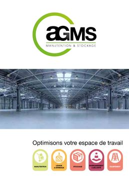 Catalogue Manutention et Stockage - AGMS MANUTENTION