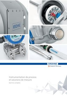 Instrumentation de process et solutions de mesure KROHNE