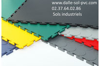 revetement de sol industriel atelier dalle PVC clipsable  DALLINDUS 7 mm