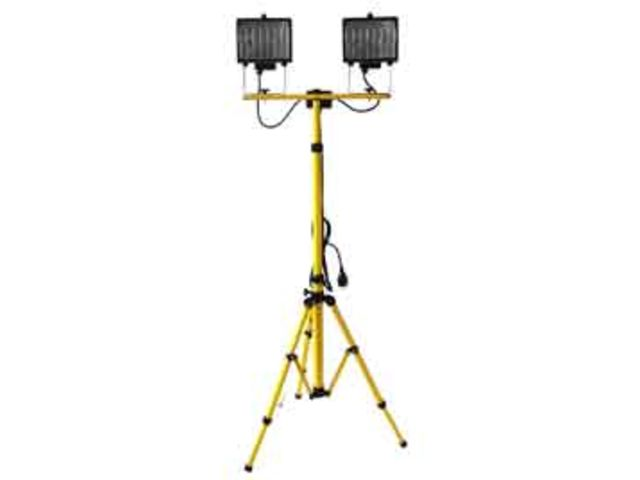 Pied Télescopique Double Sur Projecteur Chantier 400w Ref438 xWBedorEQC