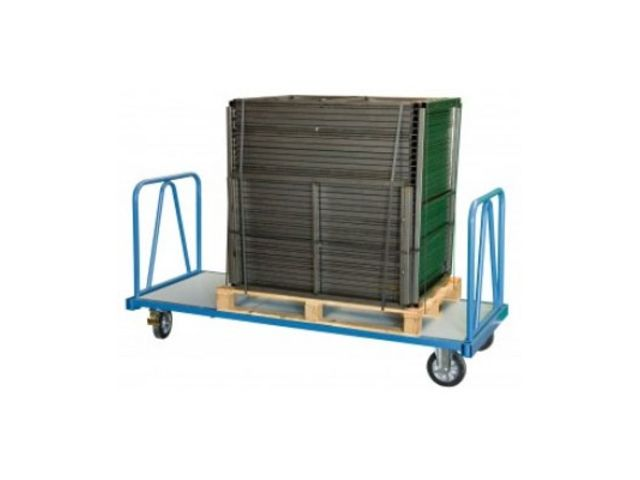Chariot industriel 2 dossiers tube - 1200 kg