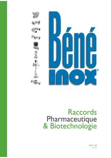 Catalogue Raccords Pharmaceutique & Biotechnologie