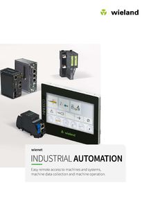wient® - Industrial automation - Easy remote access to machines and systems, machine data collection and machine operation.