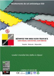 CATALOGUE SOL ANTISTATIQUE ESD CONDUCTEUR