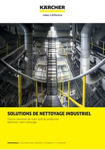 Brochure Solution de nettoyage industriel