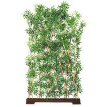 Plante artificielle d 39 int rieur bambou haie support bois for Plante interieur bambou