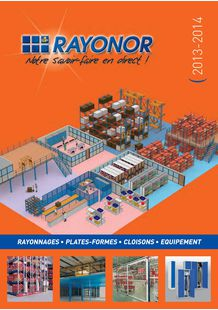Catalogue stockage plateforme et rayonnages