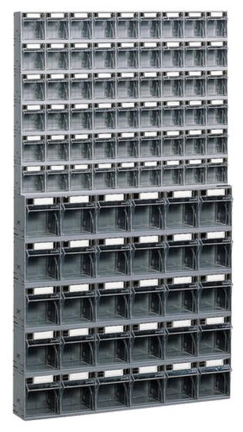 Bloc tiroir plastique 84 tiroirs avec cadre support mural - Cadre photo plastique mural ...