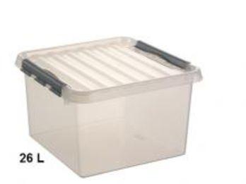 Boite de rangement plastique grand volume 26l contact - Grande boite de rangement plastique ...